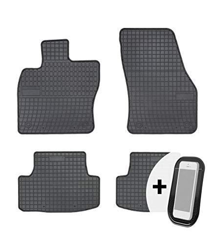 Gummimatten Auto Fußmatten Gummi Automatten Passgenau 4-teilig Set - passend für Seat Ateca Skoda Karoq VW T-ROC ab 2016