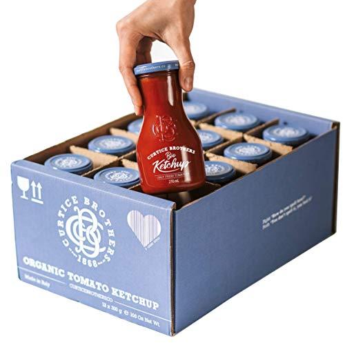 Curtice Brothers 12er-Pack Organic Tomato Ketchup - BIO Ketchup aus der Toskana mit 77% Tomaten Anteil - 12 x 300g