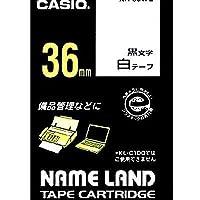 カシオ計算機 ネームランド テープカートリッジ 白ニ黒文字36ミリ幅 XR-36WE/51568801