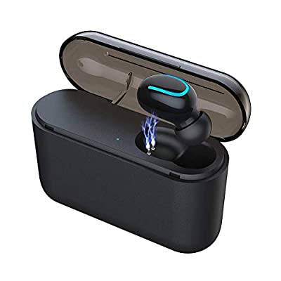 BESINPO Bluetooth Earbud, Smallest Bluetooth 5.0 Wireless Earbud Bluetooth Earpiece Invisible Earphone Car Headset 100 Hours Playing Time with 1450mAh Charging Box Enhanced Comfort - Single Earbud by BESINPO