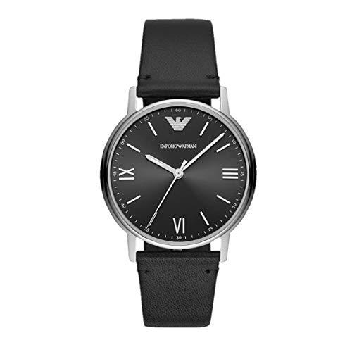 Emporio Armani AR80031 reloj de cuarzo de cuero para hombre