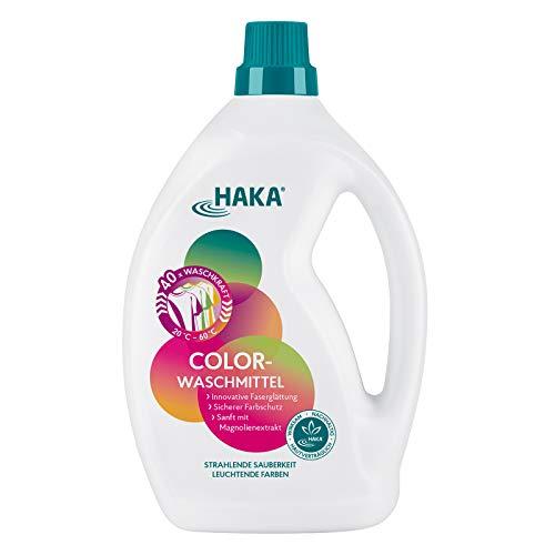 HAKA Colorwaschmittel l 2 L l Innovative Faserglättung l Sicherer Farbschutz l Sanft mit Magnolienextrakt