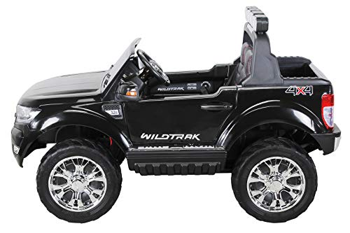 RC Auto kaufen Kinderauto Bild 6: Actionbikes Motors Kinder Elektroauto Ford Ranger Modell 2018 Allrad 4x4 / 2x4 Lizenziert SUV 2 Personen 4 x 12 V 45 Watt (Total 180 Watt) (Schwarz)*