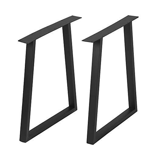 "Metal Furniture Legs Metal Legs for DIY Coffee Table Furniture Bench,Cast Iron Coffee Table Legs 28""Height 17.7""Wide,Industrial Black Dining Table Legs,Rustic Duty Square Tube Desk Legs 2 Pcs"