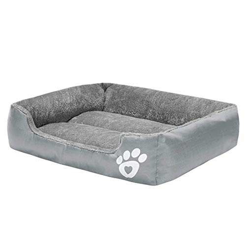 RongYiGo Pet Bed for Small/Medium/Big/Extra Large Dogs, Super Soft Pet Sofa Cats Bed?Self Warming and Breathable Pet Bed Premium Bedding (L, GRAY)