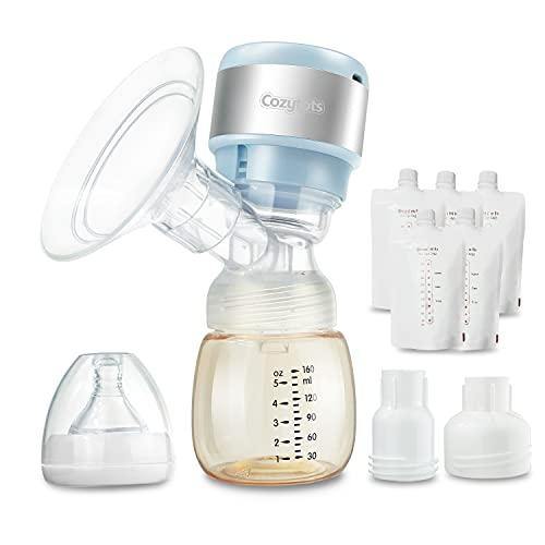 Cozytots tiralatte elettrico senza fili singolo portatile da viaggio raccoglitore di latte pompa per l'allattamento al seno ricaricabile a batteria estrattore di latte materno
