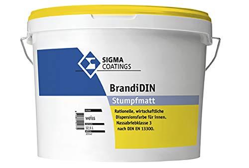 Sigma BrandiDIN weiß 12,5 Liter - rationelle, wirtschaftliche Dispersionsfarbe für innen