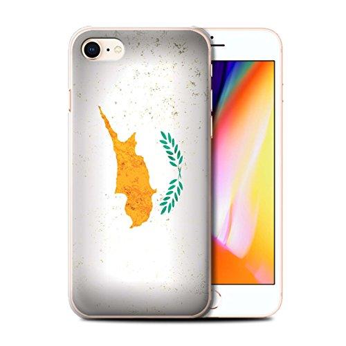Telefoonhoesje voor Apple iPhone SE 2020 Europese vlag Cyprus/Cypriot ontwerp transparant duidelijk Ultra dunne harde achterkant