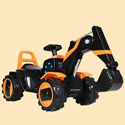 WGFGXQ Bagger Großer Bagger kann sitzen und Fahren Doppelantrieb Elektrobagger Baby Kind Elektrobagger Fahrt auf Fahrzeugen Junge Mädchen Schaukel RC Kinderspielzeug Auto Gesche