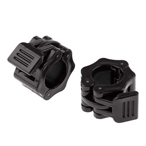 perfk Kunststoff Hantelverschlüsse Schnellverschlüsse für Hanteln Langhantelstangen Kurzhantelstangen - Schwarz, 30mm