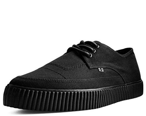 T.U.K. Shoes Herren Damen Schwarz Basic Ezc Wies & Geschnürt Schlingpflanze Sneaker EU45 / UKM11