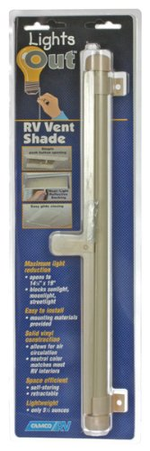 Camco 42913 Retractable Lights Out Vent Shade (Cream),14 Inch x 14 Inch