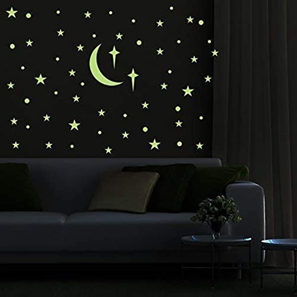 PARLAIM Removable Glow In The Dark Star Wall Stickers Glowing Ceiling Wall Decals Peel Stick Art Decor For Bedroom Nursery Living Room For Kids For Girls And Boy 272 PCS