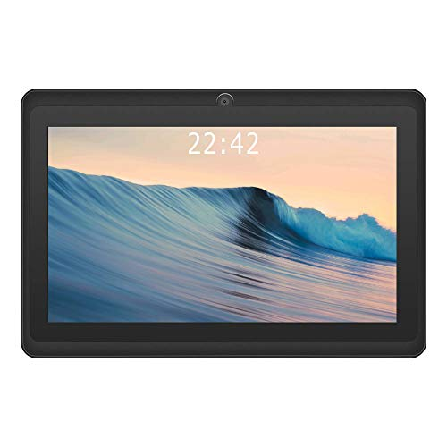 2020 New - YUNTAB 7 inch Android 8.0 Tablet, 1.5 Ghz Quad Core CPU, with WiFi, 1GB RAM, 16GB ROM, 1024x600 HD Touch Screen, Pre-Loaded Google Play Store & Games, Dual Camera(Black)