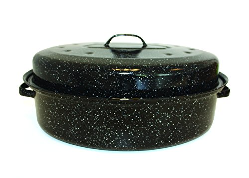 Beka 14730344 Kitchen Roc Roasty Cook Couvercle Émail Noir - 34 cm