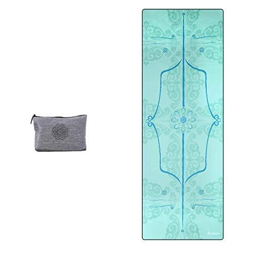 IAMZHL Toalla de Yoga de Microfibra Impresa AbsorberSudadera Portátil Antideslizante Fitness Fitness Travel Pilates Cubierta de colchoneta de Yoga Toalla de Tela Plegable Bolsa de Regalo-Type 4