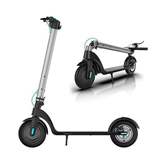 Scooter eléctrico Plegable portátil para Adultos, Scooter eléctrico para Adultos y Adolescentes, Velocidad máxima de 31...
