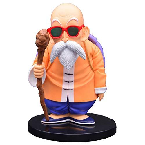Rqcaxp Vinyl figuur verzamelstuk drakenmeester Roshi Goku leraar grappige zonnebril Ver. PVC-actiefiguur Kame Sennin Standing Collection Vol Ca. 14 cm, kinderen volwassenen en anime-fans.