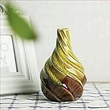 JHVD Decoración de jarrón cerámico, florero de Horno de patrón Espiral (Color : A 1)