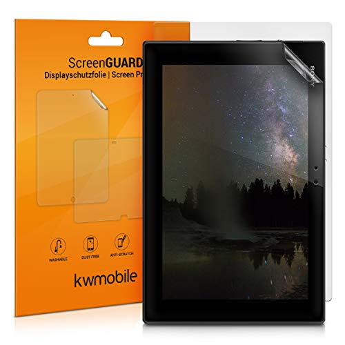 kwmobile 2X Pellicola Protettiva Compatibile con Tablet Sony Xperia Tablet Z - Superficie Opaca antiriflesso Anti-Impronte