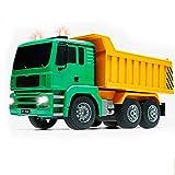 PBTRM Juguete Camión Volquete Control Remoto Construcción, 1:20 Ingeniería Automotriz Vehículo RC Luz LED 4 Ruedas