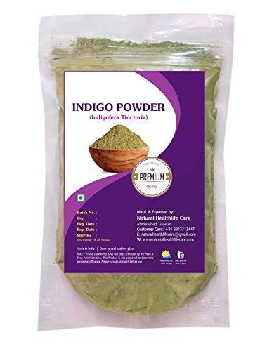 Natural Healthlife Care 100% Natural Indigo Powder (Indigofera Tinctoria) (227g / (1/2 lb) / 8 ounces)