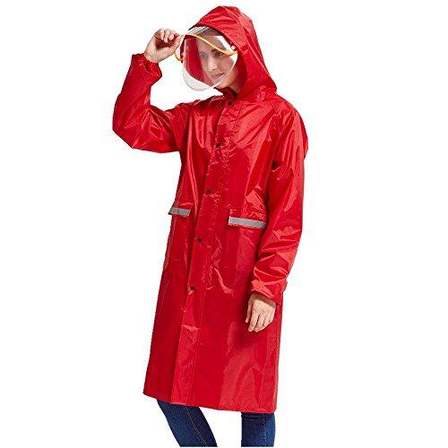 Regenponcho Erwachsene Casual Poncho Normallacks Langarm Outdoor Wandern Jungen Hipster Regenjacke Regenmantel (Color : C, Size : M)