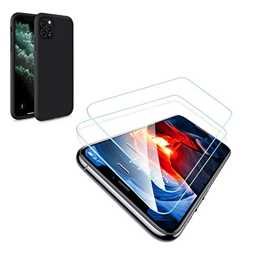 TORRAS Borderless iPhone 11 Pro Screen Protector and Liquid Silicone...