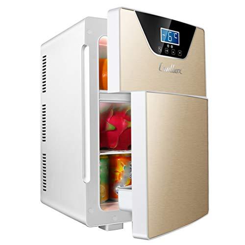 Mini nevera Refrigerador Compacto de 20 litros, Dorado y Plateado