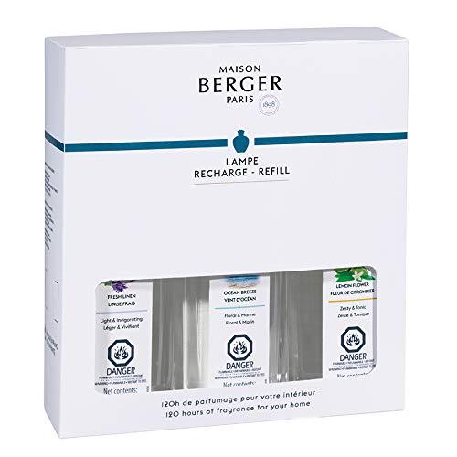 Lampe Berger Fragrance Trio Refill for Home Fragrance Oil Diffuser - 3 x 8.45 Fluid Ounces - 3x250 milliliters (Trio Fresh)