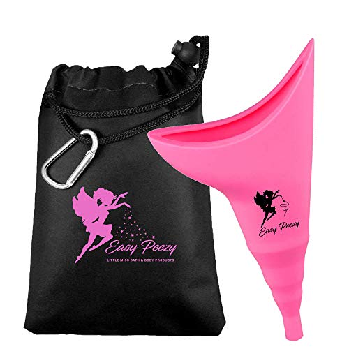 Female Urinal -Reusable Female Urination Device Allows Women to Pee Standing Up! No-Leaks, No-Splash, & Easy to use Design! Pee Funnel for Women Used for Outdoor Activities & More–with Carry Bag