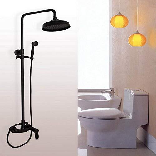 Conjunto de grifo de ducha de baño monomando de bronce engrasado de lujo + ducha de mano ahg049