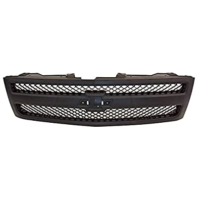 Perfit Liner New Replacement Parts Front Black Grille Compatible With Silverado 1500 Pickup Truck 07-13 Fits GM1200578 25810706
