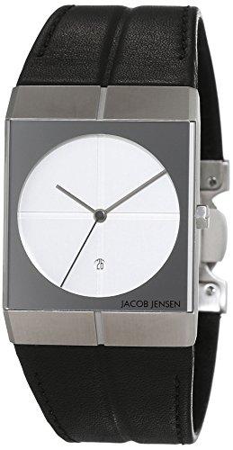 JACOB JENSEN Unisex-Armbanduhr JACOB JENSEN ICON Analog Quarz Leder JACOB JENSEN 232