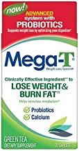 MEGA-T Green Tea Caplets with Probiotics and Calcium - 30 ct, Pack of 3
