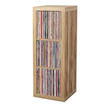 Vinyl Record Storage Shelf | LP Record Album Storage | Vinyl Record Storage Cube, Rack, Cabinet, Bookcase, Organizer for Vintage LP Records | 3 Cube Organizer by VRSS (Weathered)