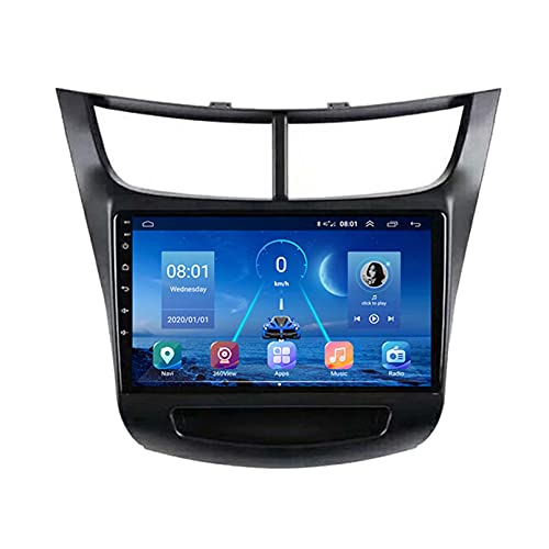 GOHHK Radio De Automóviles para Chevrolet Sail 2015 2016 2017 Multimedia Video Player No CD DVD 2din Android 9.0 GPS Navigation Carplay 360 Camera(Size:Ocho núcleos,Color:WiFi:2GB+32GB)