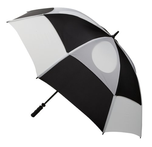 GustBuster Pro Series Extra Large Golf Umbrella Windproof 62-Inch with (Style 5)(Black/White)