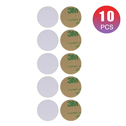 THONSEN NFC Tags NTAG215 NFC PVC Cards 25mm(1 inch) Round NFC Stickers 504 Bytes Memory Fully Programmable with All NFC-Enabled Phones and Devices Compatible Amiibo TagMo - 10 Pack