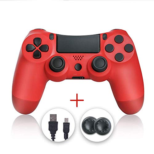 shineled Mando PS4, PS4 Controller, Controlador PS4, Mando Inalámbrico Gamepad Compatible con Playstation 4 (Rojo)