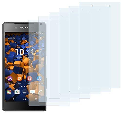 mumbi Schutzfolie kompatibel mit Sony Xperia Z5 Folie klar, Bildschirmschutzfolie (6X)