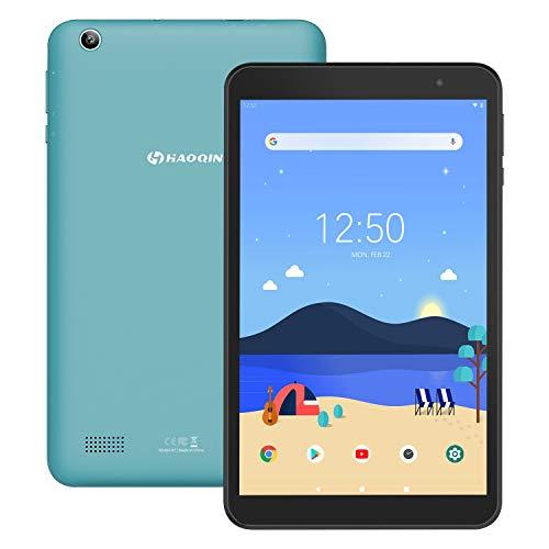 Tablet 8-Zoll Android 9.0 32GB - HAOQIN H8 Pro Quad Core 2GB RAM 1280 x 800 HD IPS Displays WiFi Bluetooth FM Google Zertifiziertes (Blau )