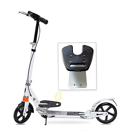GPWDSN Patada para Scooter Deportivo al Aire Libre, Patada Plegable para Adultos con Manillar Ajustable, Ciudad amortiguadora con Freno de Mano, Rueda Grande de PU, 100 kg