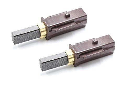 vhbw 2x Kohle-Bürste, Motorkohle, Schleifkohle 6,3mm x 11mm x 33mm kompatibel mit Staubsauger Ersatz für Miele 2830480