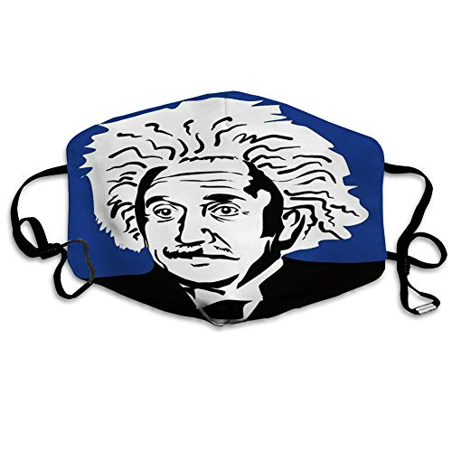 Randell Mouth Scraf Face Cover Anit Dust Shield Albert Einstein Famous Scientist and Author of The Theory Relativity