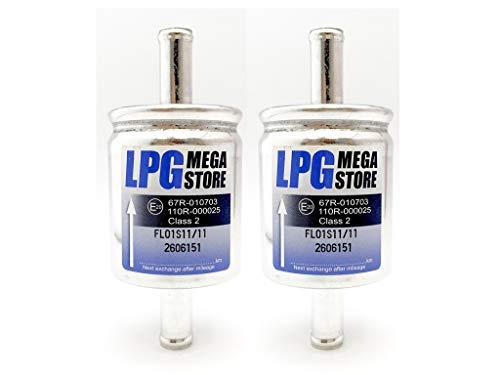 GPL 4 filtres /à gaz universels 14 mm pour gaz autogas