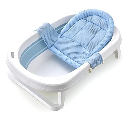 catch-L Bañera Plegable Bañera para Niños Pequeños Recién Nacidos Asiento para Lavabo De Ducha 80cm Barril De Baño para Niños con Red De Baño(Size:80X50cm,Color:Azul)