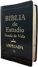Biblia De Estudio Senda de Vida Ampliada De Piel Negro Con Index RVR 1960