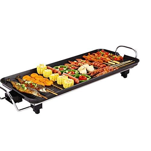 YFGQBCP Sin Humo de Barbacoa Que no se pegue, Korean BBQ Grill Pan |Placa de quemadores Antiadherente con múltiples Compartimentos y Drenaje de Alimentos |Barbacoa Plancha de Cubierta