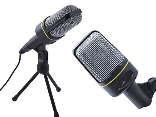 auvisio Standmikrofon: Profi-Kondensator-Studio-Mikrofon mit Stativ, 3,5-mm-Klinkenstecker (Kondensatormikrofon)